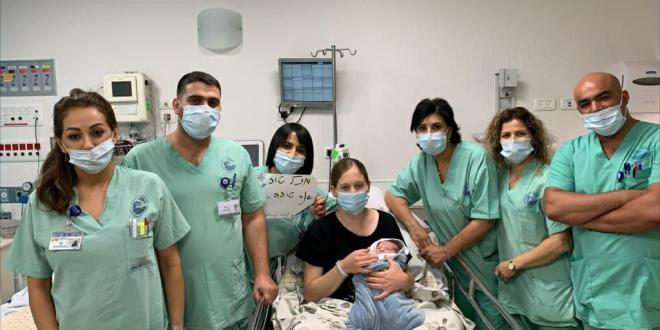 היולדת הראשונה בפוריה לשנת תשפ״א: אחות ביחידה לטיפול נמרץ
