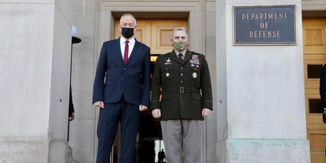 שר הביטחון לראש המטות המשולבים: אתם בני הברית שלנו במאמץ לשמירה על הביטחון באזור