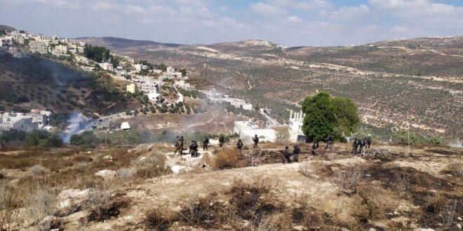 """כוחות צה""""ל ומג""""ב פיזרו התקהלות פלסטינית סמוך ליצהר"""
