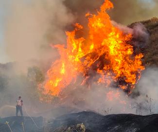 """כיבוי והצלה: סכנה ניכרת לשריפות בסופ""""ש הקרוב בשל מזג האוויר"""