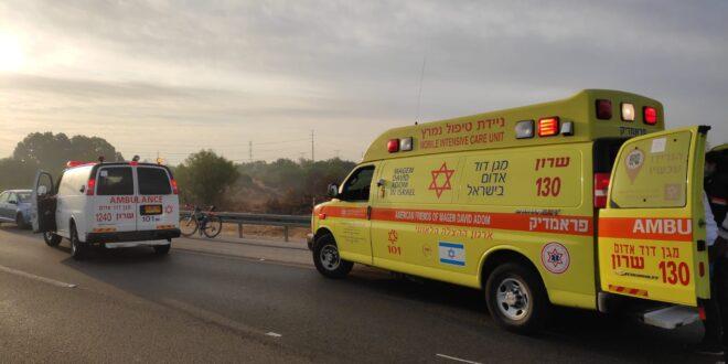 רוכב אופנוע בן 26 נפצע קשה במהלך רכיבה ליד זכרון יעקב