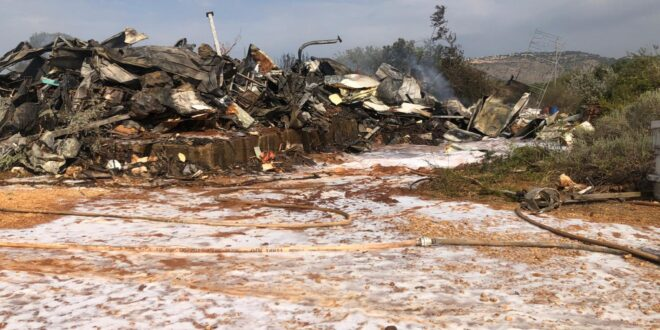 חשד לטרור חקלאי: מפעל חיים של 35 שנה עלה בלהבות בישוב מנות