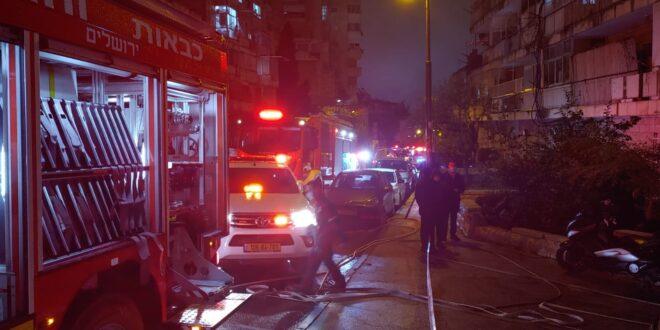 גבר בן 60 נספה בשריפה בירושלים