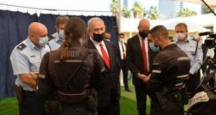 ראש הממשלה, בנימין נתניהו, הגיע היום לביקור במנהלת האכיפה הארצית קורונ...