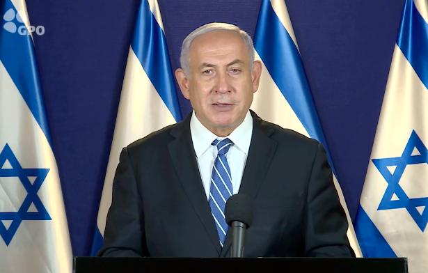 """נתניהו: ממשלת בנט לפיד גנץ בתמיכת מר""""צ ורע""""מ היא אסון לביטחון הלאומי של ישראל"""