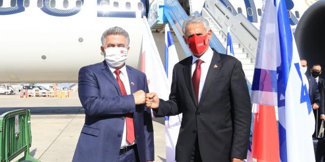 שר התעשייה והמסחר הבחרייני הגיע לישראל בראש משלחת גדולה