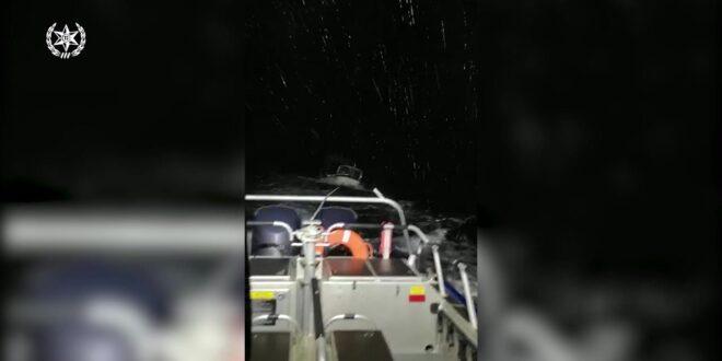 """3 דייגים שנסחפו עם סירה סמוך לגבול לבנון חולצו ע""""י השיטור הימי"""