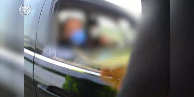 צפו: איתור נהג החייב בידוד על כביש 6 בסמוך למחלף שורק