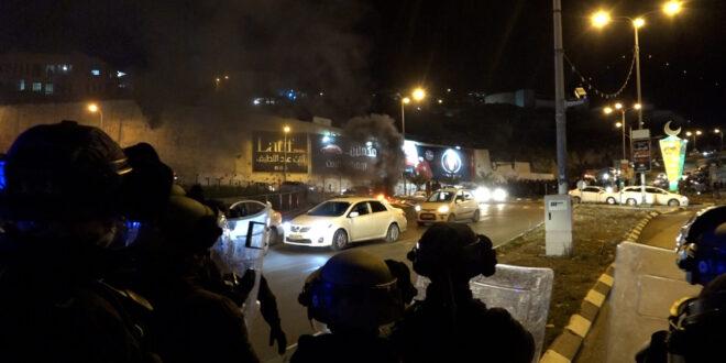 אבנים ובקבוק תבערה נזרקו לעבר השוטרים באום אל פחם, 4 נעצרו