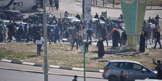 4 חשודים בהפרות סדר נעצרו בהפגנה באום אל פחם