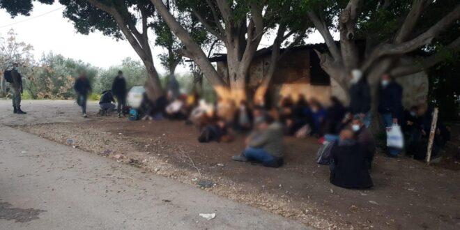 """לוחמי מג""""ב איתרו 286 שוהים בלתי חוקיים ועצרו 12 חשודים בהסעתם"""