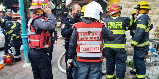 גבר בן 66 נפגע בשריפה בבניין בחיפה, מצבו בינוני – קשה