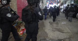 """בפעילות של שוטרים ולוחמי מג""""ב במחנה הפליטים שועאפט שבמזרח ירושלים נעצר..."""