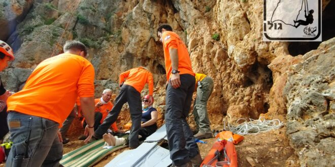 """שתי נשים שסבלו מתשישות חולצו ע""""י יחידת חילוץ גולן"""