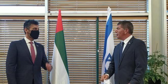 שר החוץ גבי אשכנזי שוחח עם שר החוץ ושיתוף הפעולה של איחוד האמירויות
