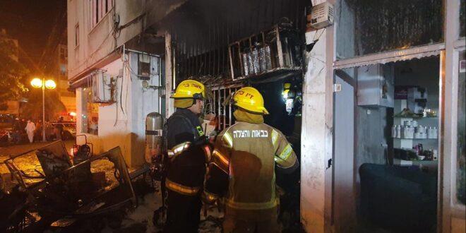 השריפה בחולון: הושגה שליטה על האש