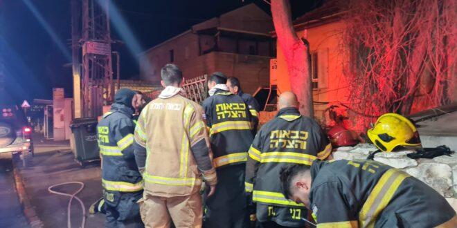 גבר בן 60 נספה בשריפה שפרצה בדירה בבניין מגורים בירושלים