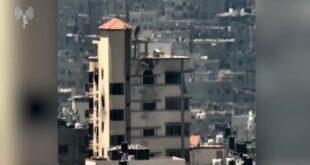 """לוחמי מגלן תקפו משגר נ""""ט של ארגון הטרור החמאס שמוקם בבניין מ..."""