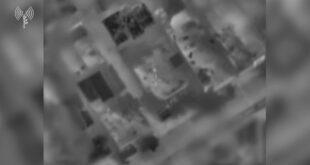 מטוס קרב וכלי טיס תקפו מוקדם יותר היום שתי דירות מבצעיות שהי...