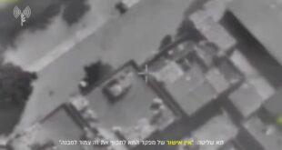 כלי טיס תקף מוקדם יותר היום משגר רקטות רב קני של ארגון הטרור...