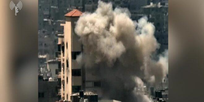 """תיעוד: לוחמי מגלן תקפו משגר נ""""ט של חמאס שמוקם בבניין מגורים בדרום הרצועה"""