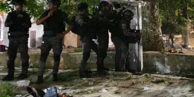 זירת קרב בהר הבית: 205 פלסטינים ו-17 שוטרים נפצעו בעימותים