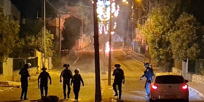 המשטרה עצרה 13 חשודים במעורבות בהפגנות האלימות בואדי ערה