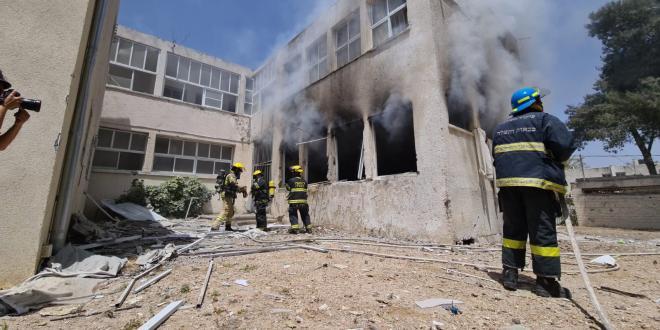 הירי לאשקלון: בית ספר בעיר ספג פגיעה ישירה, לא ידוע על נפגעים