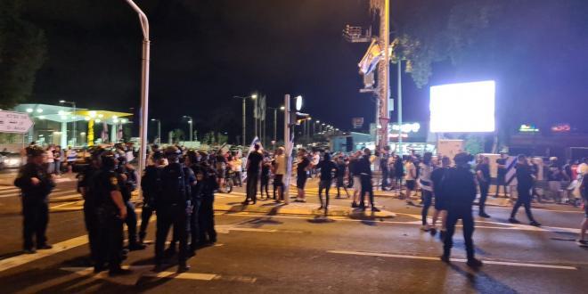 המשטרה עצרה 6 מפגינים בצומת ברניציקי בחשד שהפרו את הסדר