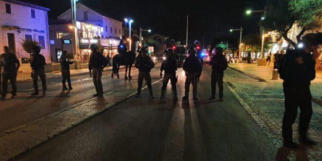 המשטרה עצרה עד כה 6 חשודים בחיפה בחשד ליידוי אבנים והפרות סדר