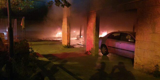 חיפה: 59 נפגעים במצב קל משריפה שהוצתה סמוך לבנייני מגורים