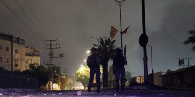 """ההתפרעויות בלוד: לוחמי מג""""ב עצרו 36 חשודים בהפרות סדר"""