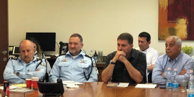 """ראשי רשויות יהודים וערבים נפגשו עם המפכ""""ל ובכירי משטרה נוספים"""