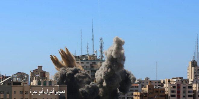 בבניין שהופצץ פעל המודיעין ויחידת המחקר והפיתוח של חמאס