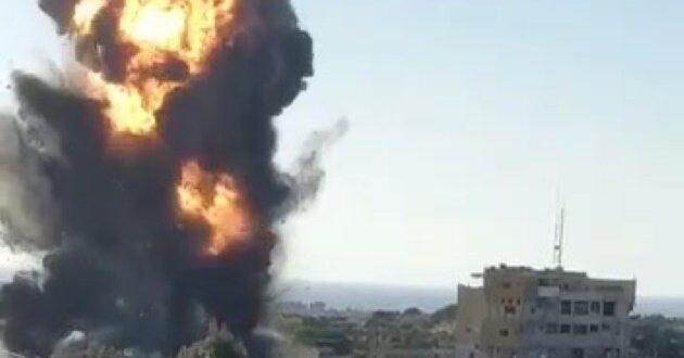 תיעוד מטורף: תקיפת מטה המנגנון לביטחון הפנים של חמאס ברפיח