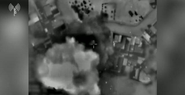 """צה""""ל תקף אתרי ייצור ואחסון אמל""""ח של ארגוני הטרור בעזה"""