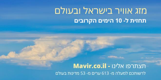 מזג האוויר: 2021-06-22 16:10:00