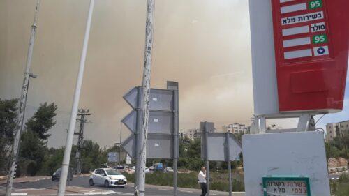 WhatsApp-Image-2021-06-09-at-13.45.58-500x281 שריפת ענק בהרי ירושלים: הופסקה תנועת הרכבות לבירה, החל פינוי תושבים במעלה החמישה