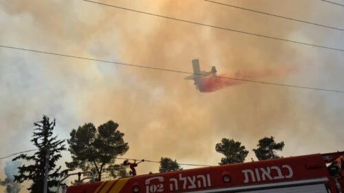 WhatsApp-Image-2021-06-10-at-15.34.09-500x281 שריפה בין צור הדסה לביתר עלית, טרם הושגה שליטה על האש