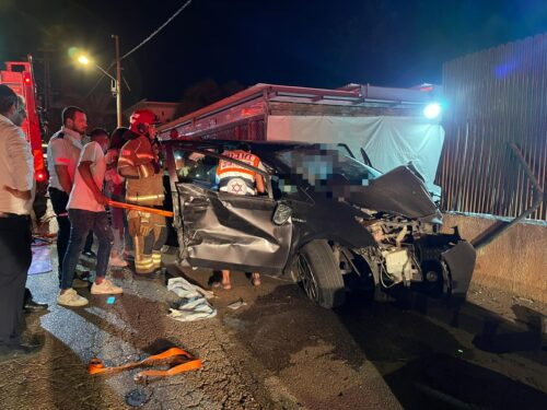 WhatsApp-Image-2021-06-11-at-10.13.08-500x375 פצוע קשה, 2 בינוני ו-2 קל בהתנגשות רכב בקיר סמוך למושב ברקת