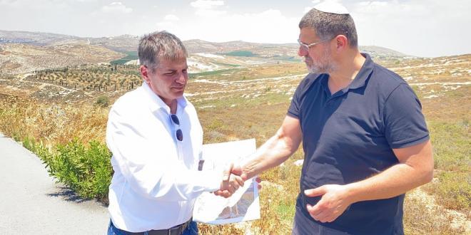 """ח""""כ יואב קיש סייר היום ביישוב עמיחי ובגבעות שילה"""