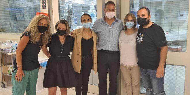 ראשת אגף שיקום נכים במשרד הביטחון הנכנסת ביקרה את משפחת סעידיאן