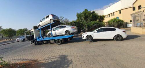 גרירת רכבים עקב נהיגה ללא רישיון