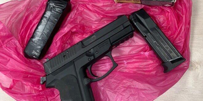 אקדח, תחמושת ומחסניות נתפסו בבית ברהט, בן 28 נעצר