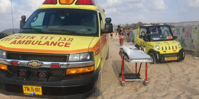 בן 45 טבע בחוף מעיין צבי והובהל בהחייאה לבית החולים הלל יפה