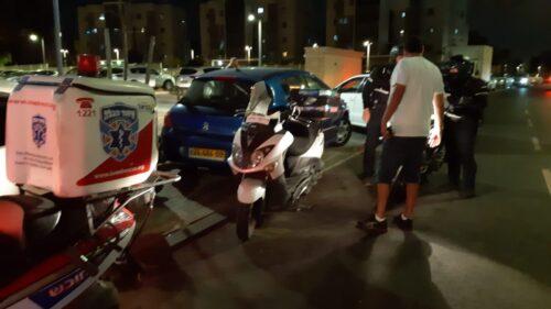 תאונה רכב וקטנוע אשקלון