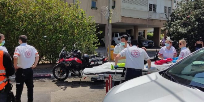 תינוקת בת שנתיים נפגעה בינוני בשריפה שפרצה בבניין מגורים בתל אביב