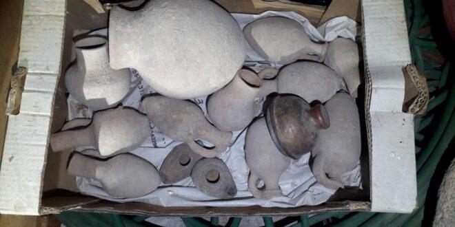 עשרות כדים וכלי חרס עתיקים נתפסו בכפר טורעאן, חשוד בן 45 נחקר