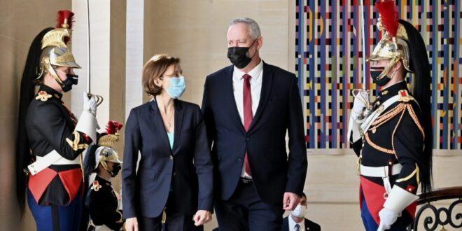 השר גנץ סיים ביקור בזק בצרפת שבו נפגש עם שרת ההגנה הצרפתית