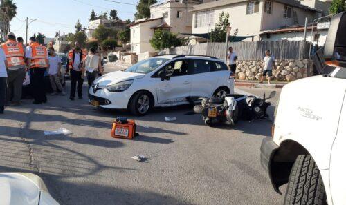 תאונת דרכים בישוב ביריה